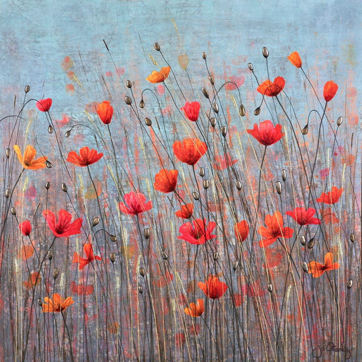 Where the Heart Is by jo starkey -  sized 28x28 inches. Available from Whitewall Galleries